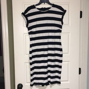 Banana republic striped fitted dress size 14